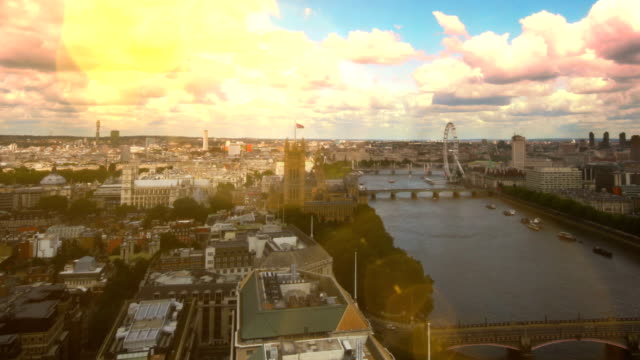 london river thames skyline time-lapse. hd - panning stock videos & royalty-free footage