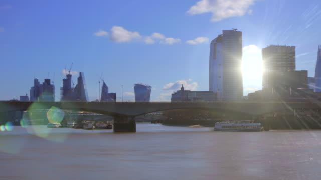 london river thames time-lapse. 4k - film montage stock videos & royalty-free footage