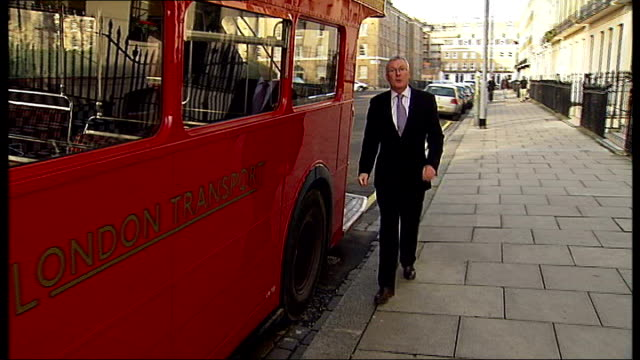 Routemaster double decker bus replacement unveiled Reporter to camera SOT