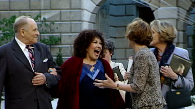 london: royal academy: ext johnny dankworth along with his wife, jazz singer cleo laine - john dankworth stock videos & royalty-free footage