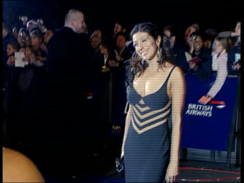 London Royal Albert Hall Following sequence contains flash photography CMS Shobna Gulati posing posing for press outside National Television Awards...