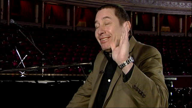 london royal albert hall int jools holland interview sot discusses role as deputy lieutenant of kent/ playing at royal albert hall/ acts on his new... - royal albert hall stock videos and b-roll footage