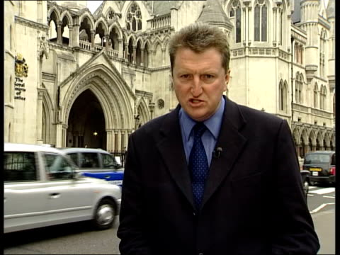 london: royal courts of justice ext george galloway mp statement sot - they were ready to use any and all fabrication, falsehood, forgery, utterly... - no doubt band stock videos & royalty-free footage