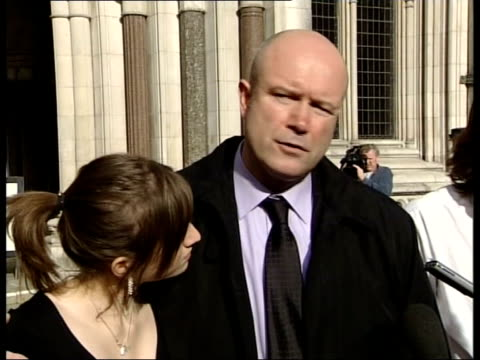 london royal courts of justice ext kevin gonzales speaking to press sot we were aware as amy and paul were fighting for their lives in hospital that... - lying on side stock videos & royalty-free footage