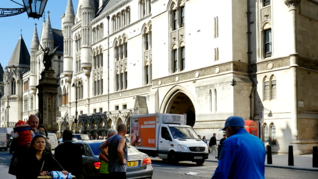 london royal courts of justice in the strand road (4k/uhd to hd) - justice concept stock videos & royalty-free footage