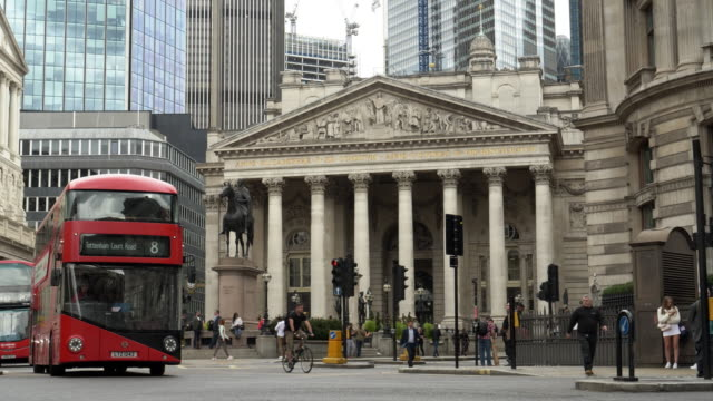london royal exchange and bank junction - road signal stock videos & royalty-free footage