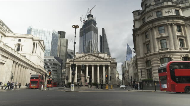 London Royal Exchange and the City Skyscrapers