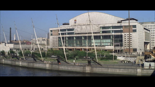 1962 london - royal festival hall and waterloo bridge - royal festival hall stock videos & royalty-free footage