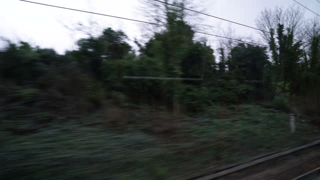 london scenery from train window - cinematography stock videos & royalty-free footage