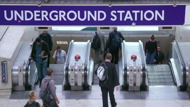 london september tuesday - escalator stock videos & royalty-free footage