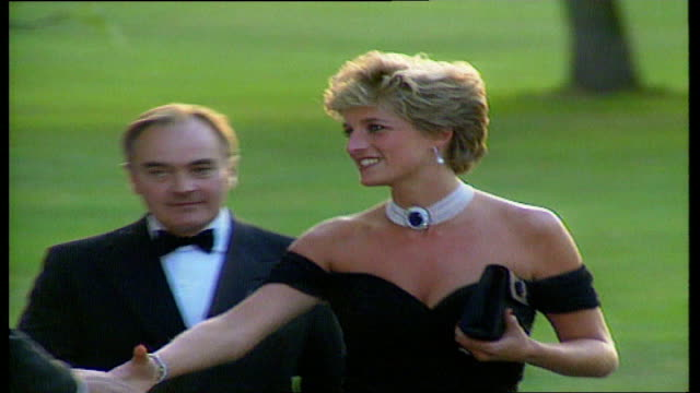 serpentine gallery princess diana along and is greeted - dress stock videos & royalty-free footage