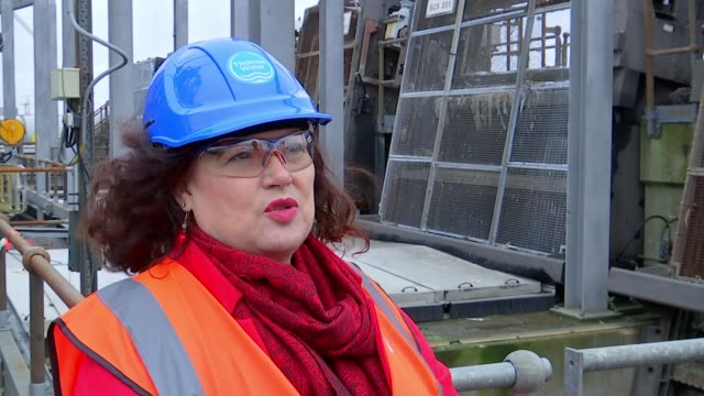 London sewers clogged up with wet wipes Beckton Water Treatment Works Leonie Cooper interview SOT Wet wipes with interview overlaid SOT Treatment...