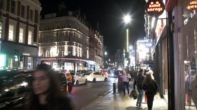 london shaftesbury avenue to the west - avenue stock videos & royalty-free footage
