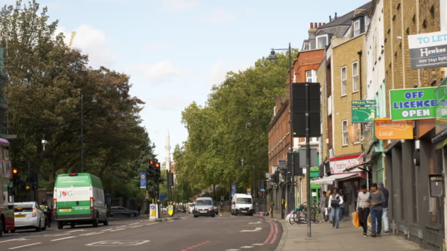 london shoreditch high street in hoxton district - hackney stock videos & royalty-free footage