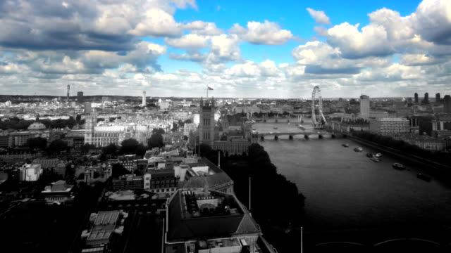 London skyline time-lapse with color effect. HD