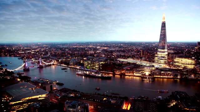 london skyline - dusk stock videos & royalty-free footage