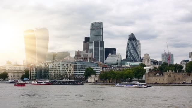 London Skyline with sun