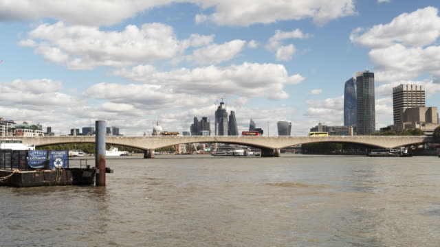 Skyline von London Themse und Waterloo Bridge