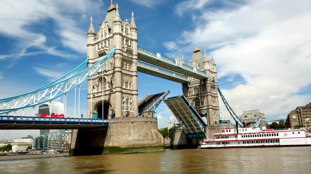 Skyline von London Tower Bridge, Zeitraffer