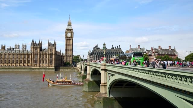 london skyline with westminster bridge, timelapse - city of london stock videos & royalty-free footage