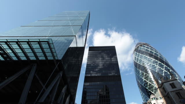 london skyscrapers - sir norman foster building stock videos & royalty-free footage