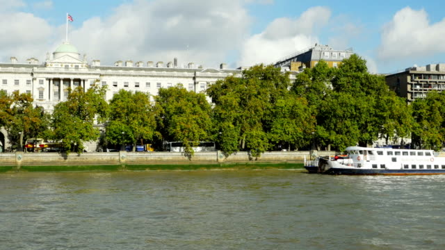 pov london somerset house at the victoria embankment - embankment stock videos and b-roll footage