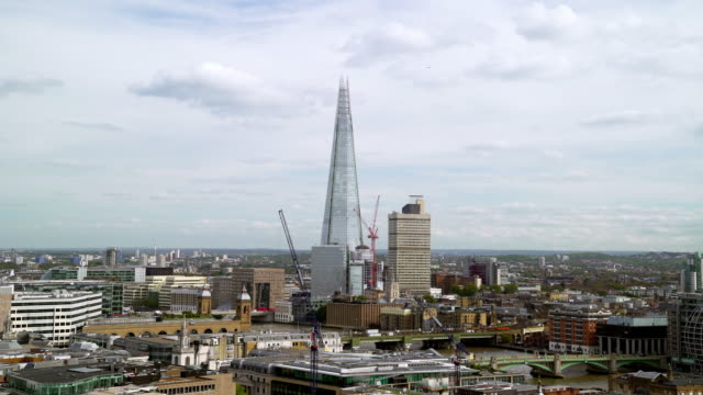 London South Bank und der Shard Wolkenkratzer