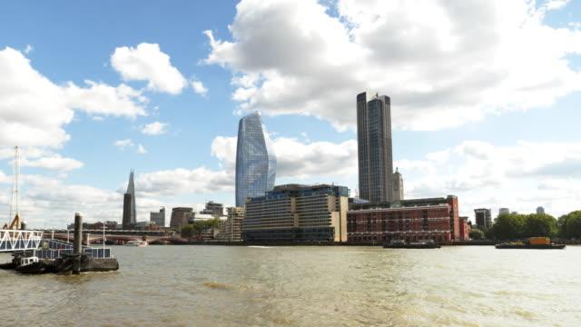 Londoner South Bank Wolkenkratzer von Nordwesten gesehen
