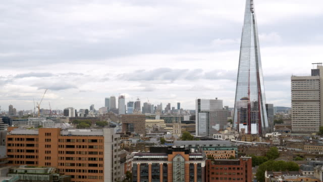 london southwark and the shard skyscraper - shard london bridge stock videos & royalty-free footage
