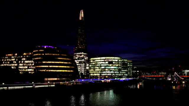 London Southwark With City Hall And The Shard  At Night