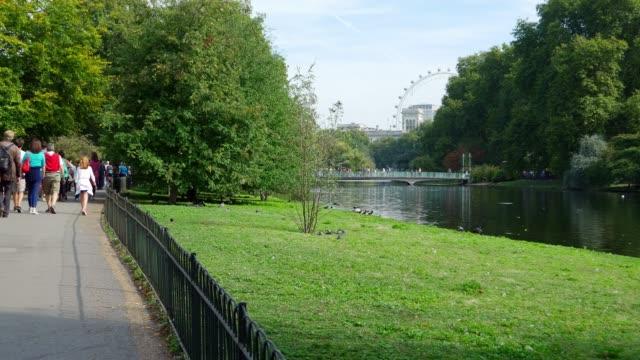 London St. James's Park And Millennium Wheel