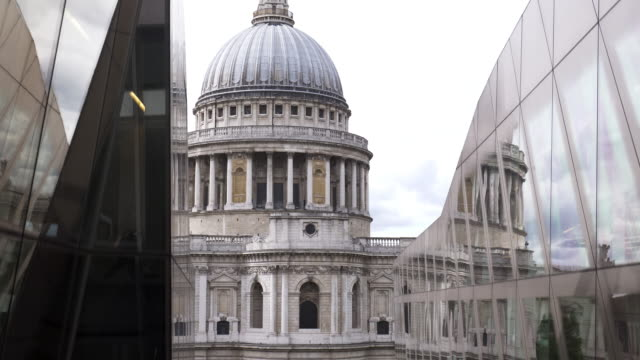 london st. paul's cathedral viewed from elevator - elevator point of view stock videos and b-roll footage