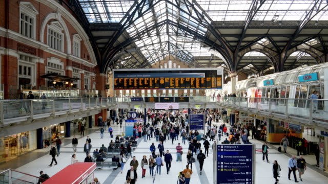london station - busy stock videos & royalty-free footage