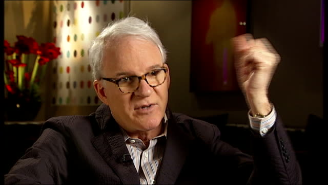 london steve martin interview sot on folk music and bluegrass craze in us / why he wanted to play the banjo - bluegrass music stock videos and b-roll footage
