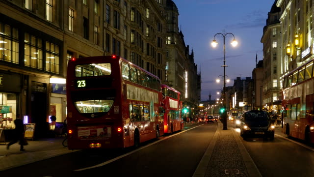 london strand road at night (4k/uhd to hd) - the strand london stock videos and b-roll footage
