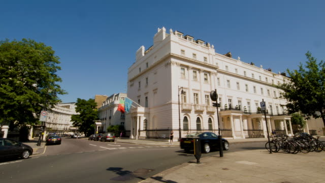 london street in summer - stately home stock videos and b-roll footage