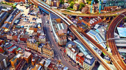 london street. rail way - city of london stock videos & royalty-free footage