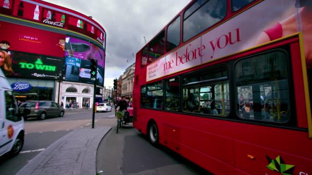 london street scenes - electronic billboard stock videos and b-roll footage