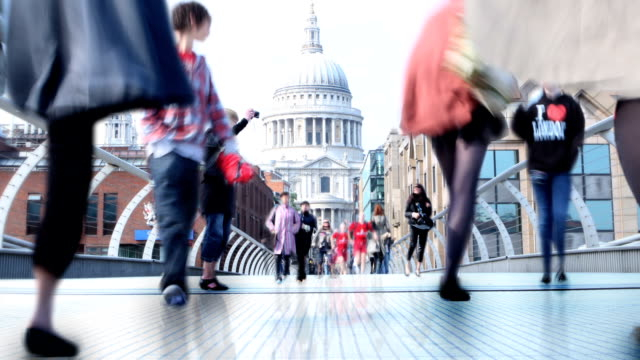 hd_ london street time lapse parallax - standing out from the crowd stock videos and b-roll footage