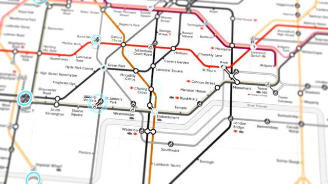 london subway map localization - seamless 4k loop - tube stock videos & royalty-free footage