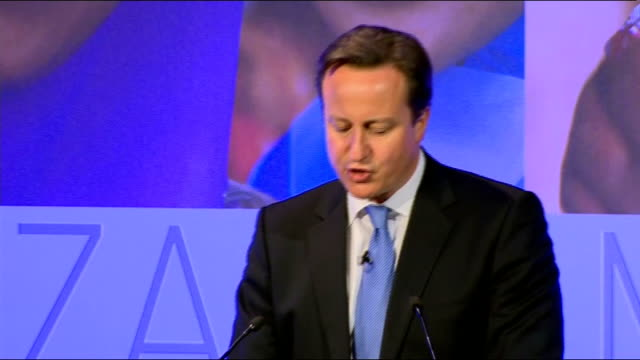 london summit on family planning: david cameron and melinda gates speech; england: london: westminster: int prime minister david cameron sitting next... - human stage stock videos & royalty-free footage