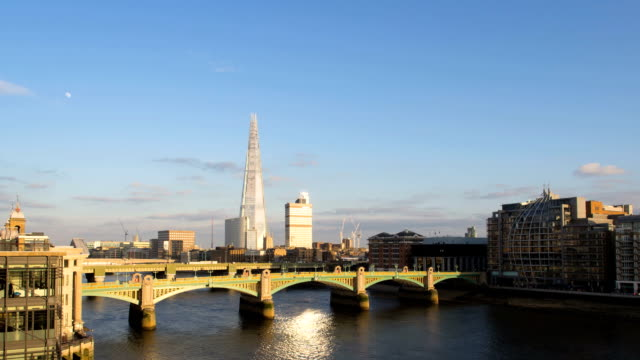 london sunset hd timelapse. the shard and river thames - london bridge england stock videos and b-roll footage
