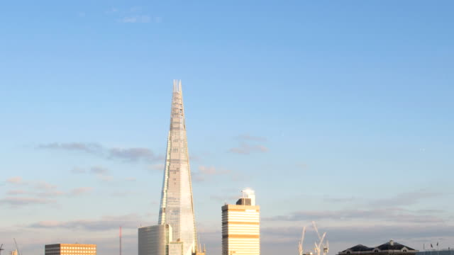 london sunset hd timelapse. the shard and river thames - shard london bridge stock videos & royalty-free footage