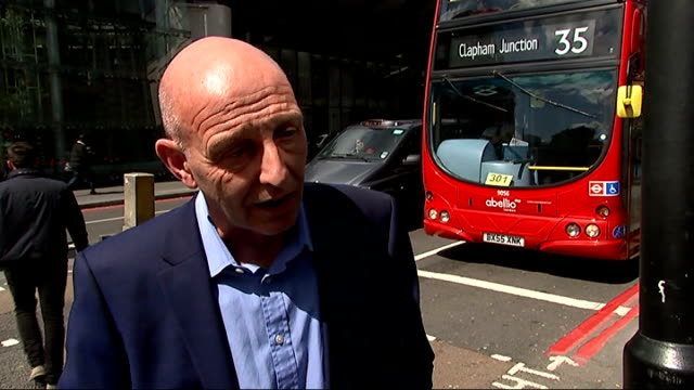 london taxi drivers demonstration over lack of taxi rank at the shard steve mcnamara interview sot - taxi rank stock videos & royalty-free footage