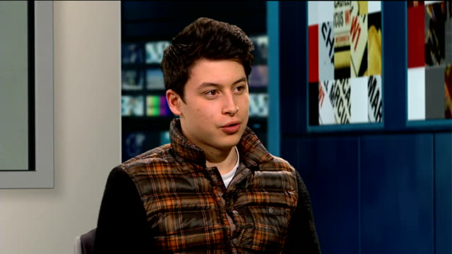 london teenager nick d'aloisio sells mobile phone app to yahoo england london gir int nick d'aloisio live studio interview sot - yahoo brand name stock videos & royalty-free footage