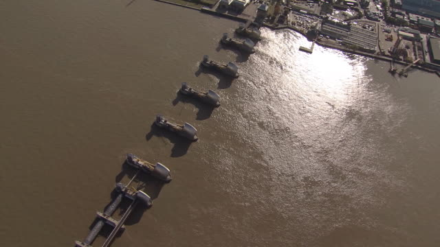 London Thames Barrier Overview by Helicopter