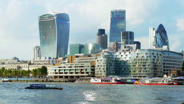 london thames river and the city - thames river stock videos and b-roll footage