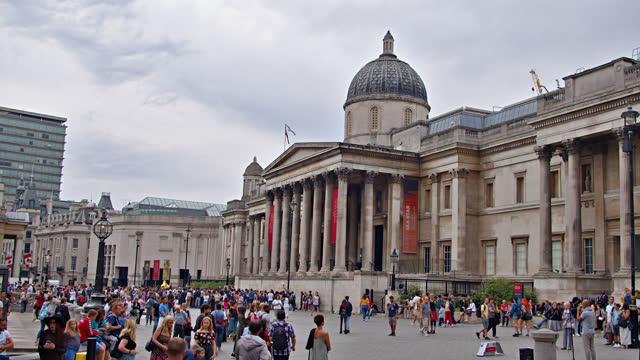 london. the national gallery. trafalgar square - museum stock videos & royalty-free footage