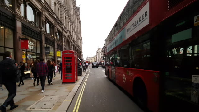 london the strand road to the west - double decker bus stock videos & royalty-free footage
