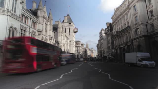 london the strand timelapse traffic - the strand london stock videos and b-roll footage